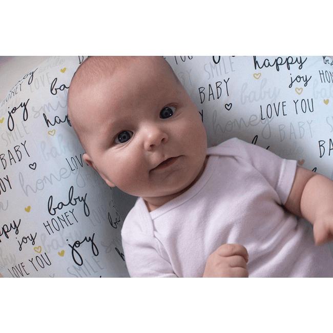 Boppy Nursing/Feeding Pillow with Cotton Slipcover - Hello Baby 5