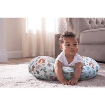 Boppy Nursing/Feeding Pillow with Cotton Slipcover - Modern Woodland 8