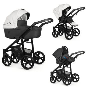 Venicci White Valdi 3 in 1 Travel System