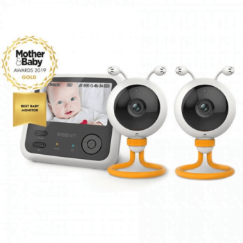 WiseNet BabyView Eco Flex Baby Monitor SEW-3048 - Mother & Baby Awards Best Monitor 2019 & Additional Camera
