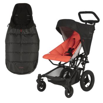 Micralite FastFold Stroller + FREE Footmuff - Flouro