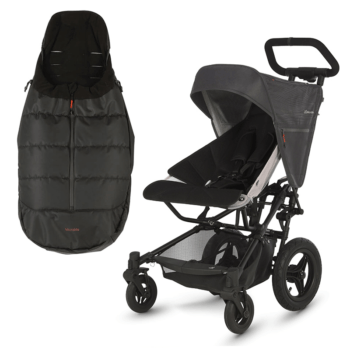 Micralite FastFold Stroller + Footmuff - Black
