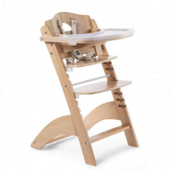 childhome lambda natural wood highchair