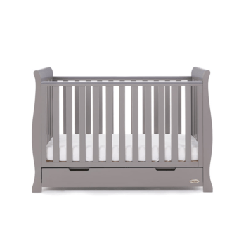 Obaby Stamford Mini Cot Bed Taupe Grey 3