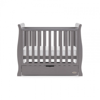 Obaby Stamford space saver cot taupe grey