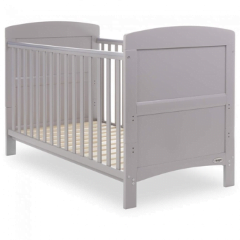 obaby grace cot bed warm grey