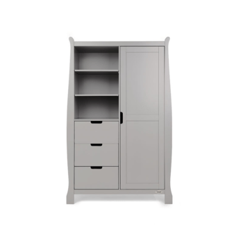 obaby stamford double wardrobe warm grey