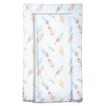 East Coast Changing Mat - Feathers (Coral)