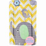 Callowesse Changing Mat Deluxe Waterproof with Raised Edges - Elephant Chevron