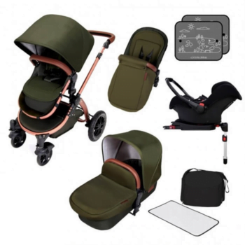 Ickle Bubba Stomp V4 All in One Travel System Woodland Bronze