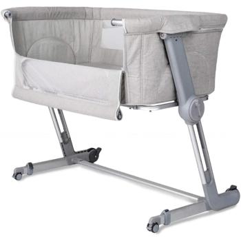 Unilove Hug Me Plus Bedside Crib – Shadow Grey