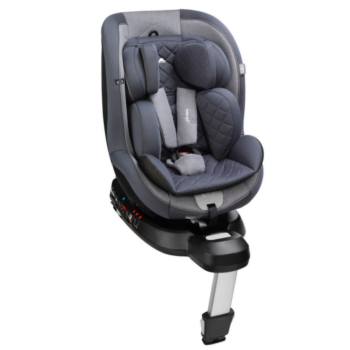 mee-go swirl 360 car seat pebble grey