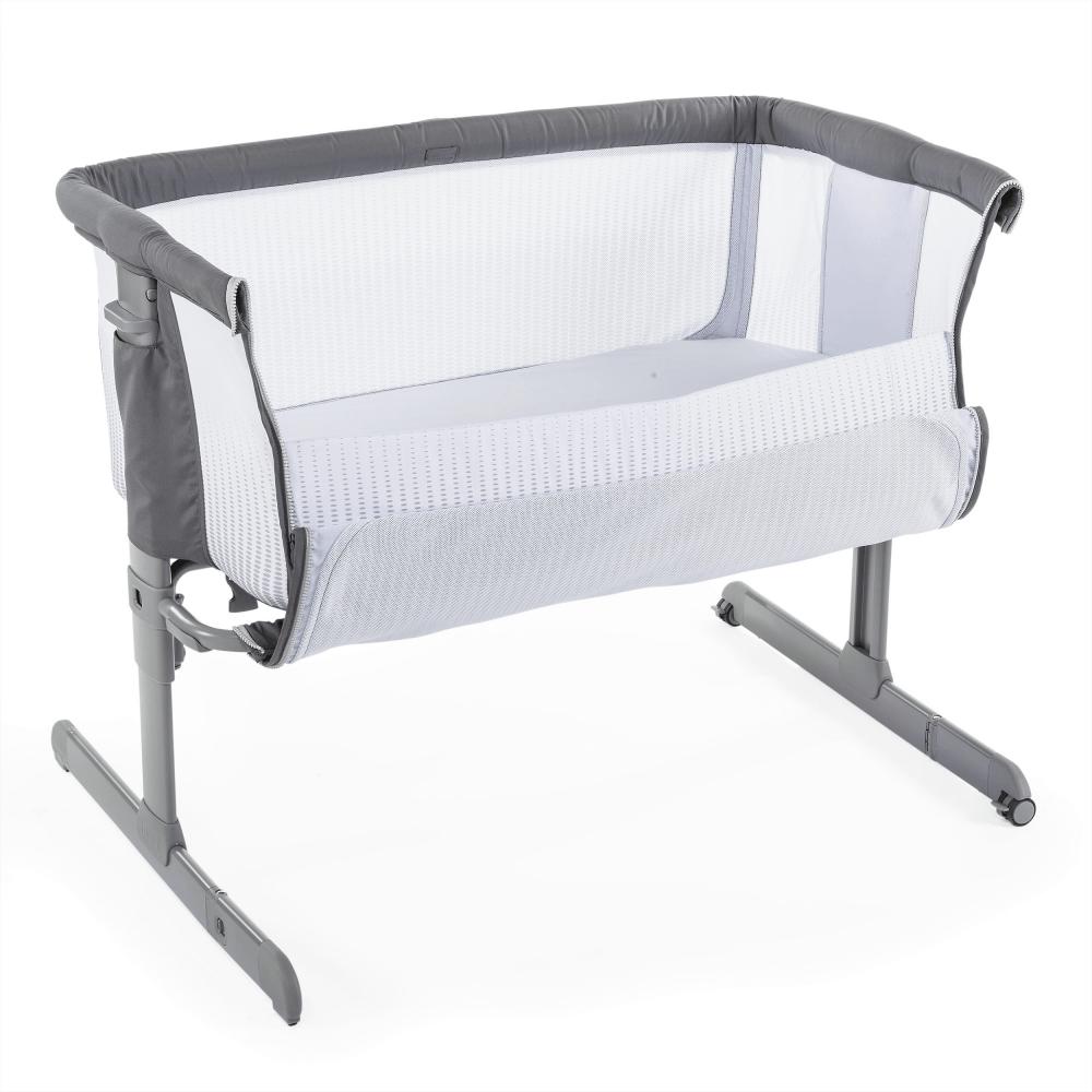 chicco next2me air side sleepign crib dark grey