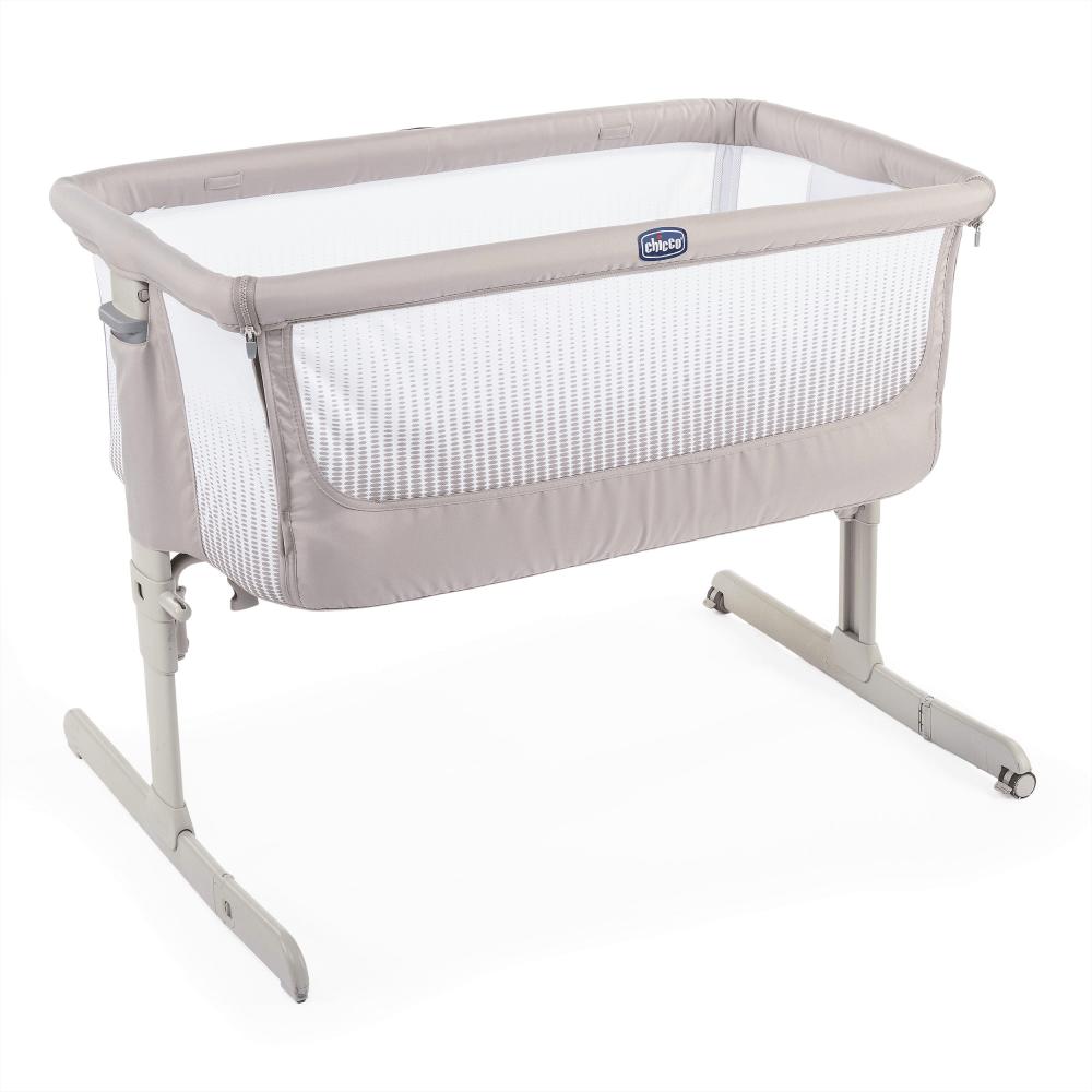 chicco next2me air side sleeping crib dark beige top up