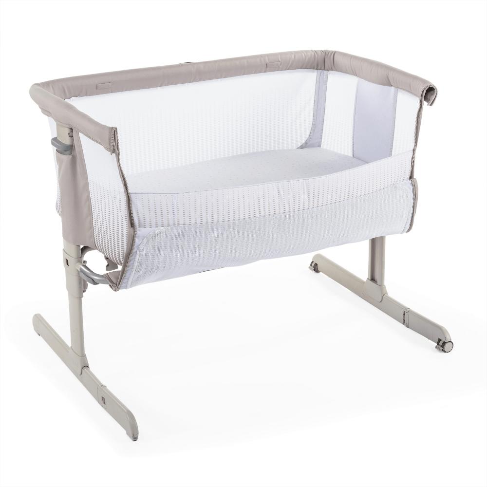 chicco next2me air side sleeping crib dark beige