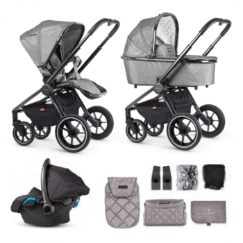 Venicci Grey Tinum 12 Piece Travel System
