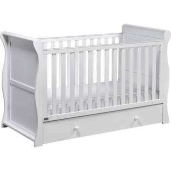 East Coast Nebraska Sleigh Cot Bed - White
