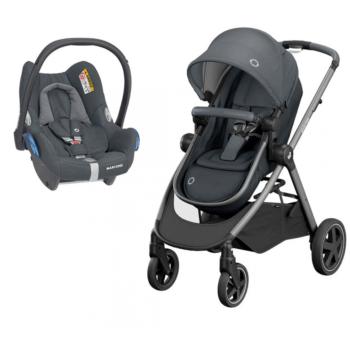 zelia essential graphite pushchair + CabrioFix