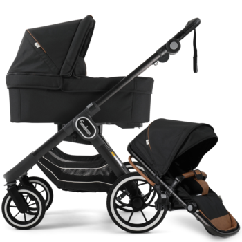 NXT90 Carrycot and Ergo Seat Outdoor Black on black chassis