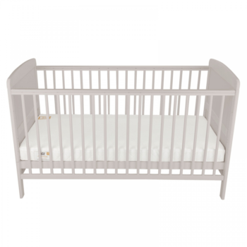 juliet cot bed and mattress - dove grey - front view