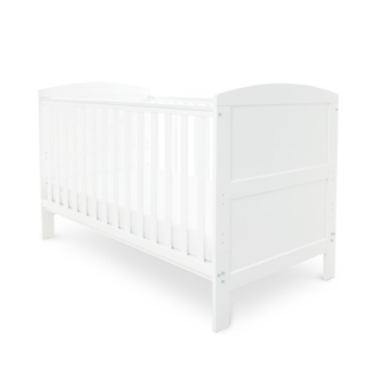 Babyhoot coleby cot bed white and mattress
