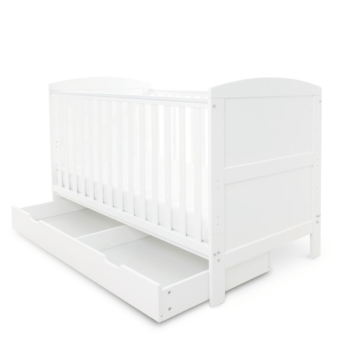 Coleby Cot Bed and Under Drawer white