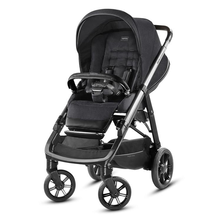 Inglesina Aptica 3-in-1 Travel System Mystic Black stroller front