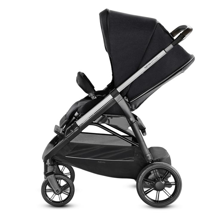 Inglesina Aptica 3-in-1 Travel System Mystic Black stroller side