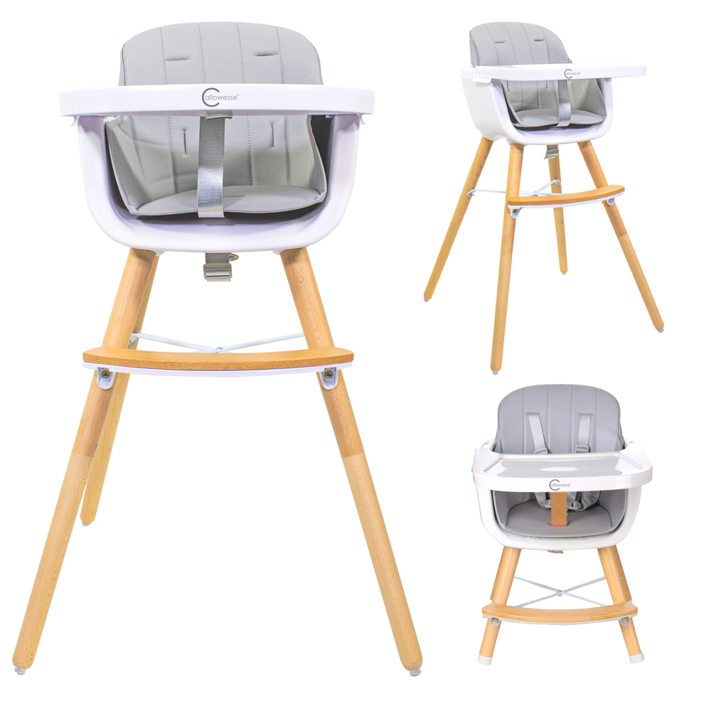 Callowesse Elata 3-in-1 Wooden Highchair – Grey