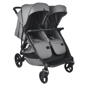 Roma Gemini Double Pram - Grey
