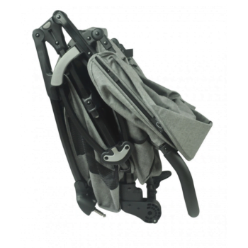 Roma Gemini Double Pram - Grey folded