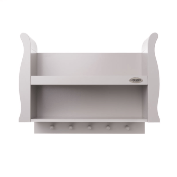Stamford shelf warm grey front view