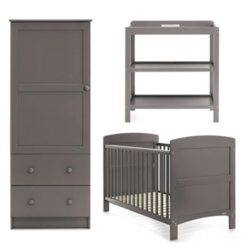 obaby grace 3 piece taupe grey