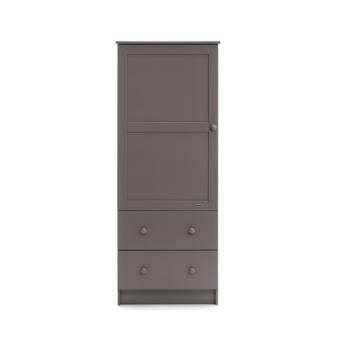 obaby single wardrobe taupe grey