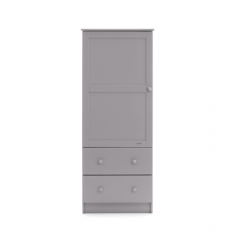 obaby single wardrobe warm grey