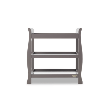 obaby stamford open changing unit taupe grey