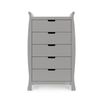 obaby stamford tall chest of drawers warm grey