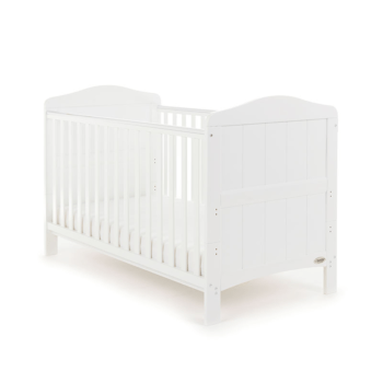 whitby cot bed white