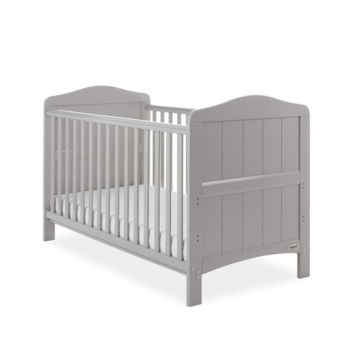 whiteby cot bed warm grey