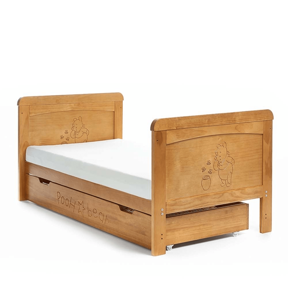 Obaby Disney Winnie the Pooh Deluxe Cot Bed | Country Pine