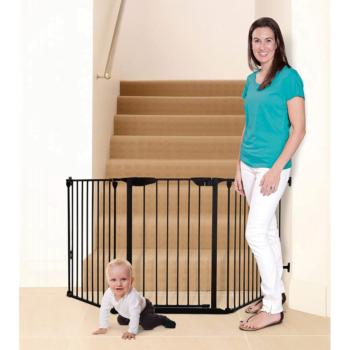dreambaby newport adapta gate black bottom of stair