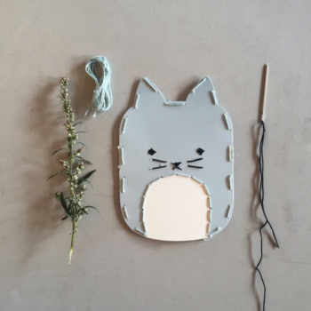 fabelab embroidery kit cat lifestyle