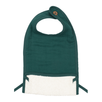 fabelab muslin feeding bib evergreen