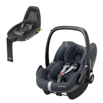 maxi cosi pebble pro i-size car seat essential graphite and familyfix2