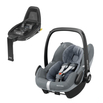 maxi cosi pebble pro i size car seat essential grey and familyfix2