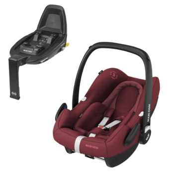 maxi cosi rock i-size car seat essential red and familyfix2