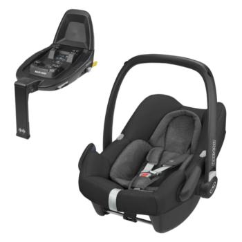 maxi cosi rock i-size car seat nomad black and familyfix2