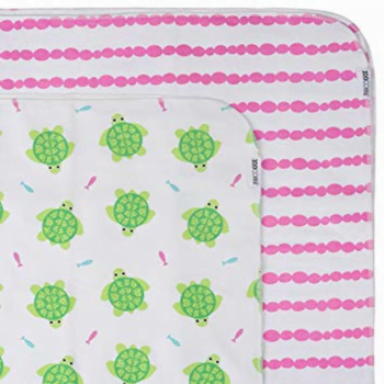zoocchini flannel receiving blankets turtle pink