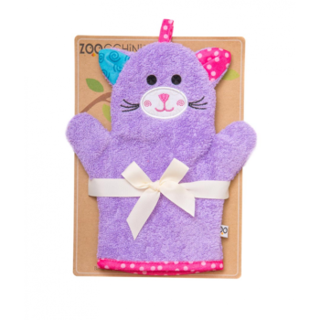zoocchini terry bath mitt - kallie the kitten