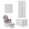 Ickle Bubba Grantham 5 Piece Set with Foam Mattress - Brushed White